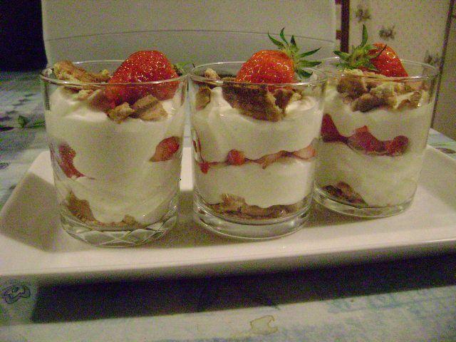 recette dessert dans verres